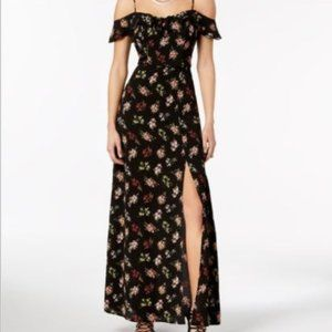 B DARLIN Floral Maxi Dress Off the Shoulder style